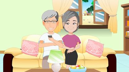 心衰管理关爱父母动画